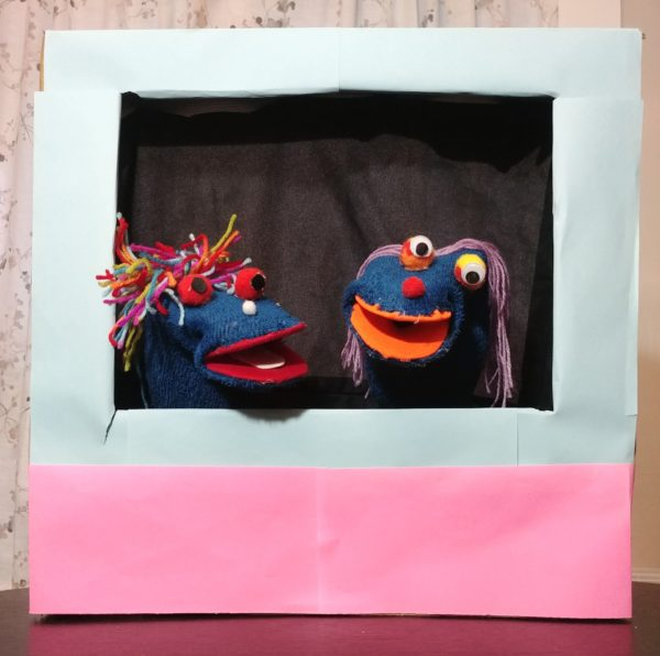 DIY sock puppet and stage