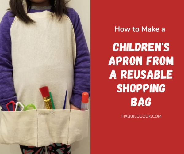 How to make a children's apron from a reusable shopping bag