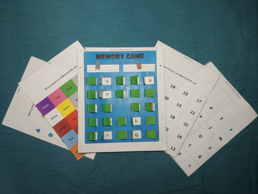 Memory Game Board with Themed Cards