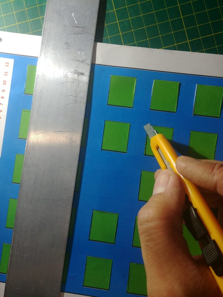 Cut out each box along the dotted lines.