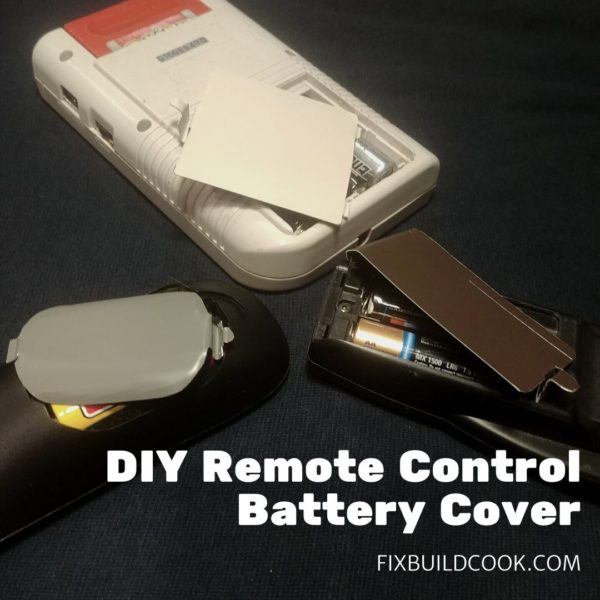 DIY Replacement Remote Control Batteyr Cover