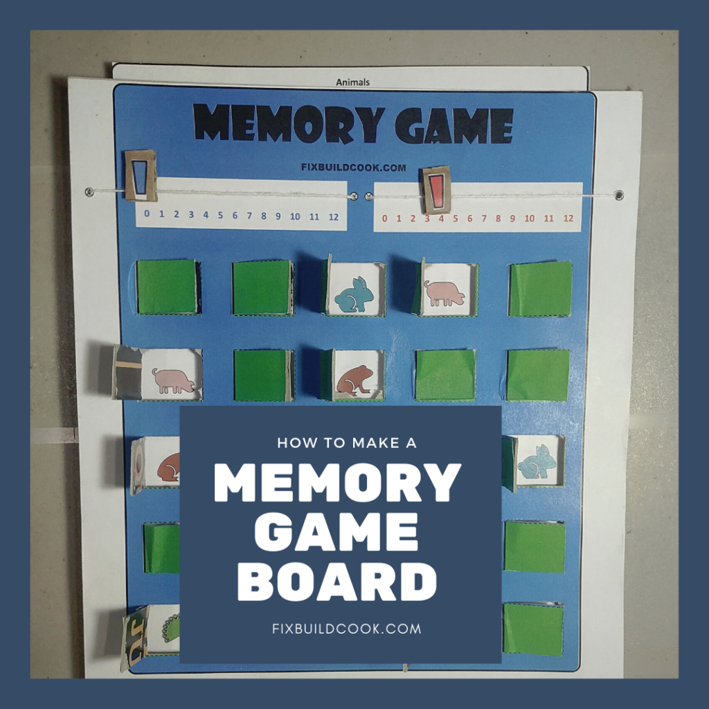 How to Make a Memory Game Board with free printout