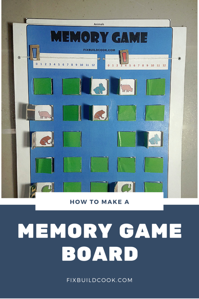 How to Make a Memory Game Board using a free printable template